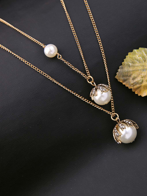 KM Double-layer Simple Style Women 's Necklace 2
