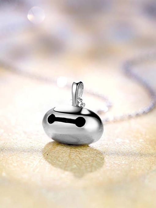 One Silver 925 Silver Cartoon Shaped Pendant