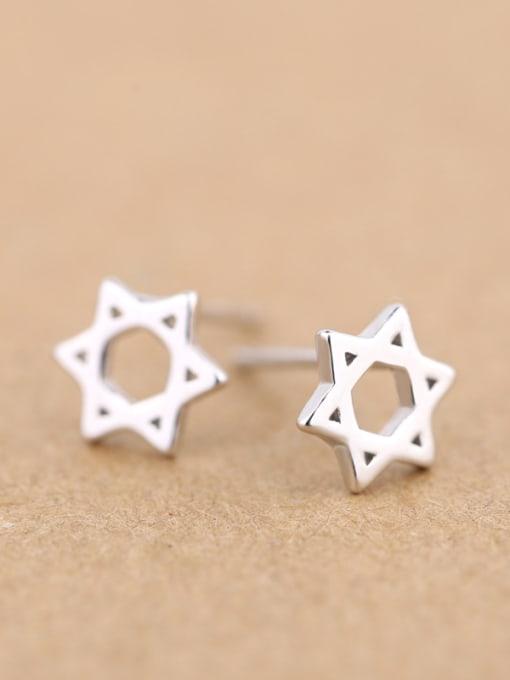 Peng Yuan Hollow Six-pointed Star stud Earring 2