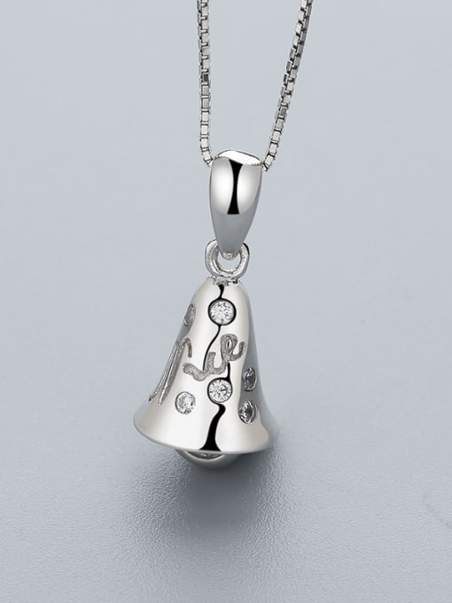 One Silver 925 Silver Bell Shaped Pendant 0