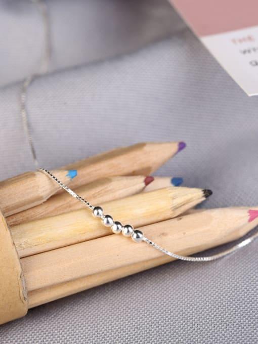 Peng Yuan Simple Tiny Beads Silver Necklace 2