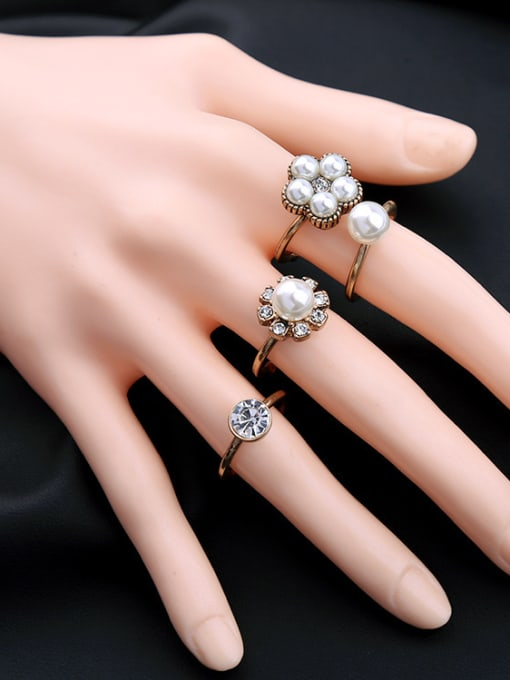 Set Simple Opening Ring Four Pieces Set