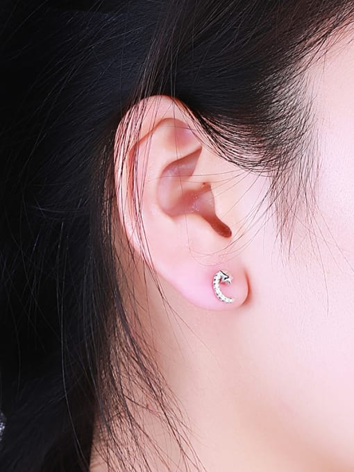 One Silver Temperament Star And Moon cuff earring 1