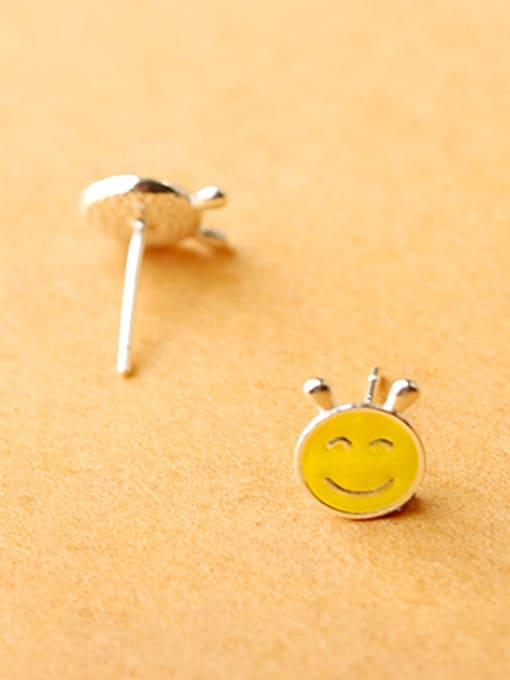 Peng Yuan Yellow Smiling Face stud Earring 1