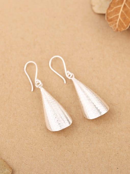 Peng Yuan Simple Handmade Sterling Silver hook earring