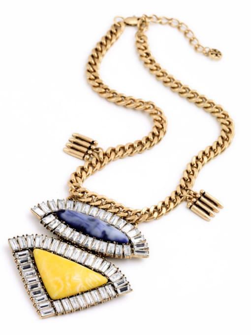 KM Geometric Pendant Alloy Women Necklace 2