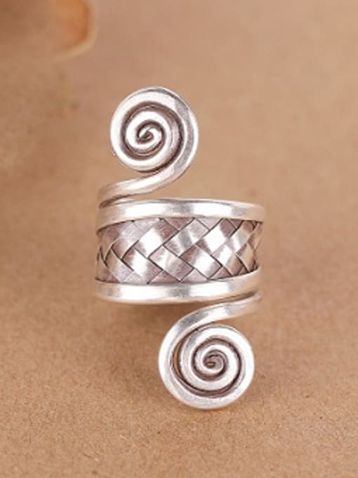 Peng Yuan Personalized Ethnic style Silver Ring 0