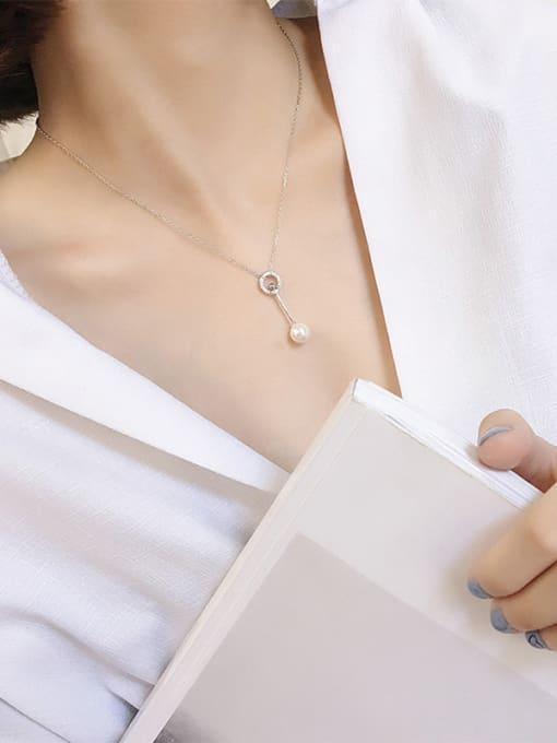 Peng Yuan Fashion Freshwater Pearl Silver Necklace 1