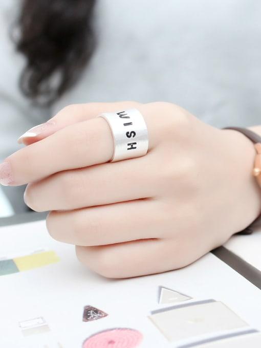 Peng Yuan Personalized WISH Silver Opening Ring 1