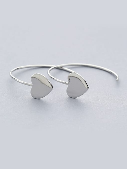 One Silver Women Elegant Heart Shaped hook earring 0