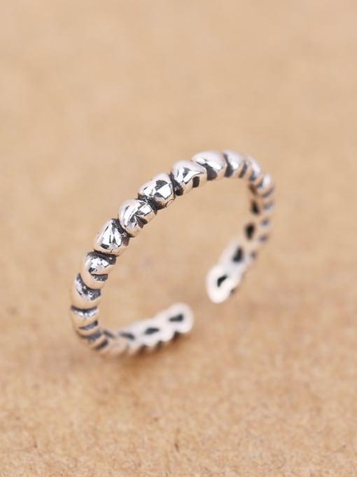 Peng Yuan Retro Tiny Heart shapes Opening Midi Ring 3
