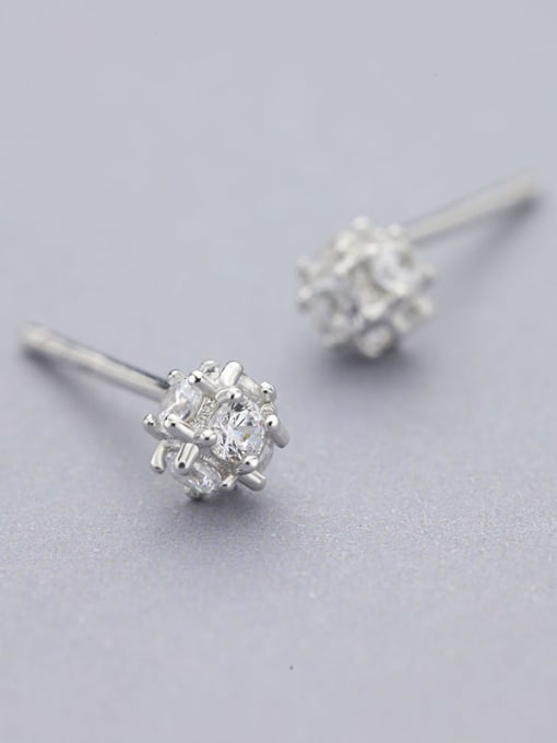 White 925 Silver Multi Corner Shaped cuff earring