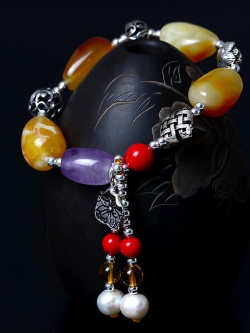 SILVER MI Colorful Festival National Tassel Bracelet 1