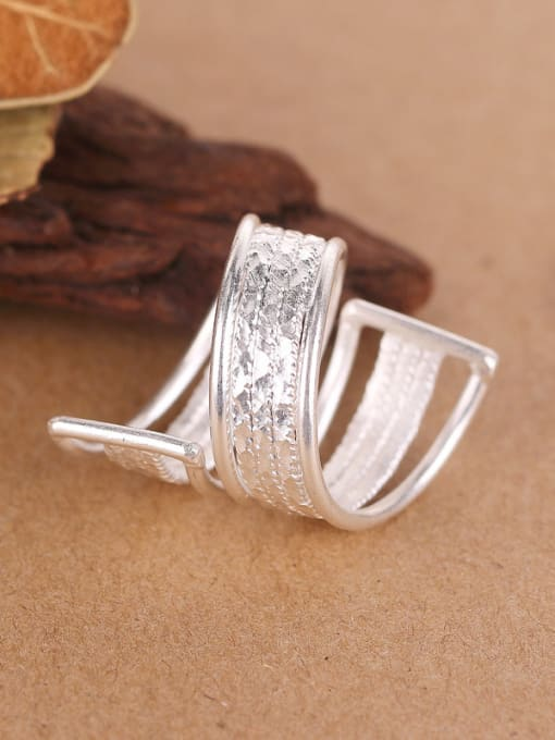 Peng Yuan Exaggerated Personalized Silver Opening Ring 2