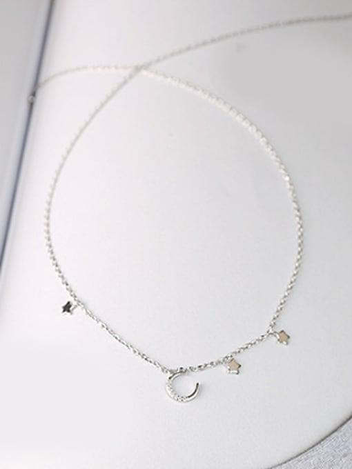Peng Yuan Simple Tiny Moon Star Necklace