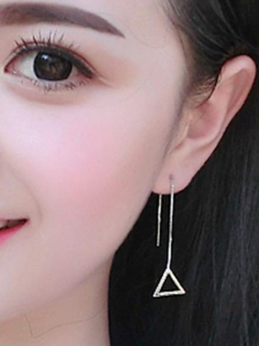 Peng Yuan Simple Hollow Triangle Line Earrings 1