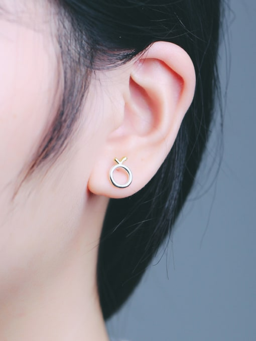 Peng Yuan Simple Tiny Round stud Earring 1
