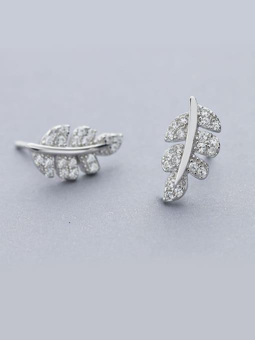 One Silver 925 Silver Maple Leaf Earrings 0
