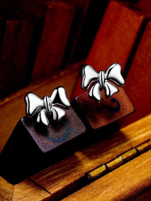 One Silver All-match Butterfly Shaped Stud Earrings 2