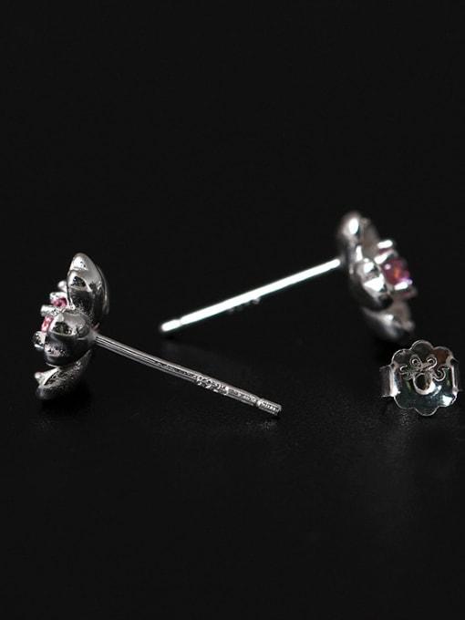 SILVER MI S925 Beautiful Romantic Stud Earrings 2