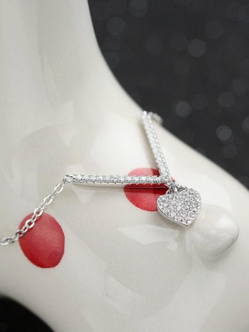 Peng Yuan Simple Heart-shaped Zircon Necklace 2