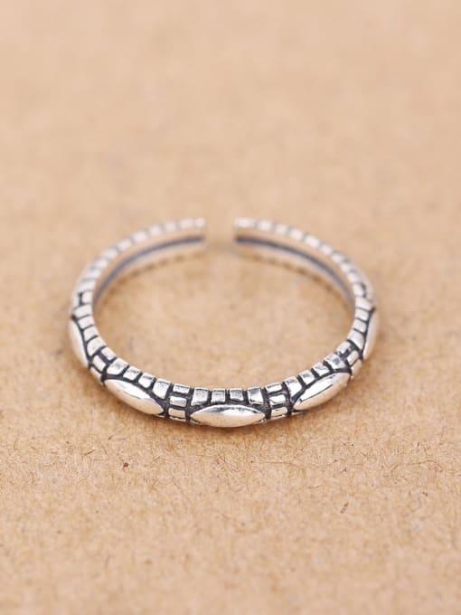 Peng Yuan 2018 Retro style Silver Opening Midi Ring