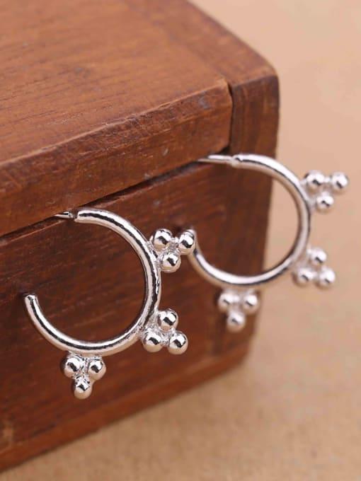 Peng Yuan Simple Tiny Beads Stack Stud hoop earring 1