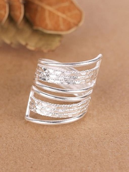 Peng Yuan Exaggerated Personalized Silver Opening Ring 0