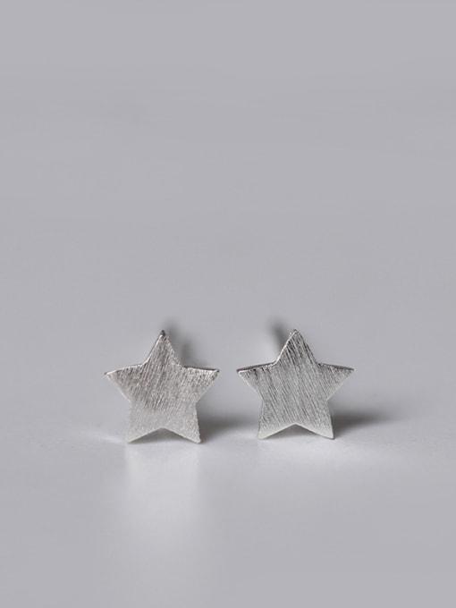 SILVER MI Lovely Geometric Small Stud Earrings 2