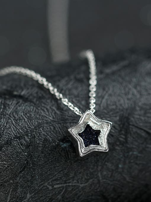 Peng Yuan Fashion Black Stone Star Necklace 3