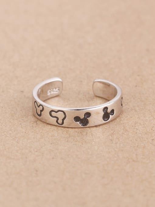 Peng Yuan Tiny Mickey Enamel Opening Midi Ring