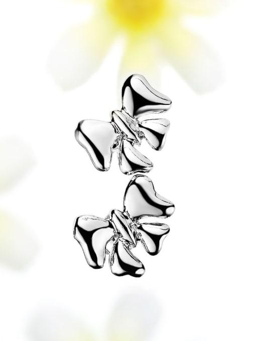 One Silver All-match Butterfly Shaped Stud Earrings 3