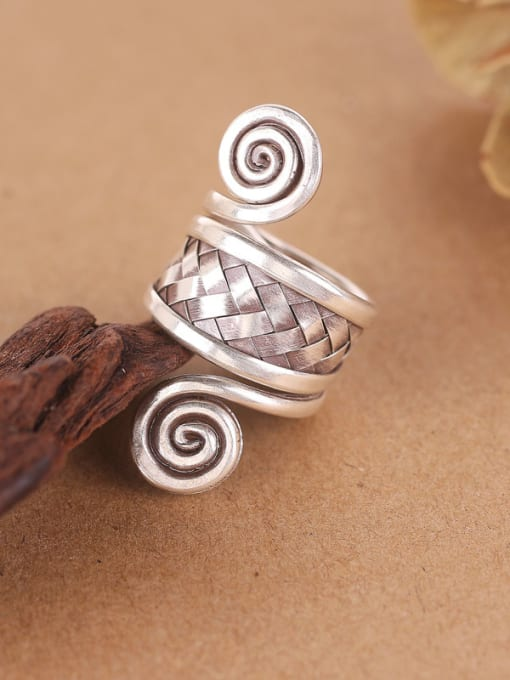 Peng Yuan Personalized Ethnic style Silver Ring 1