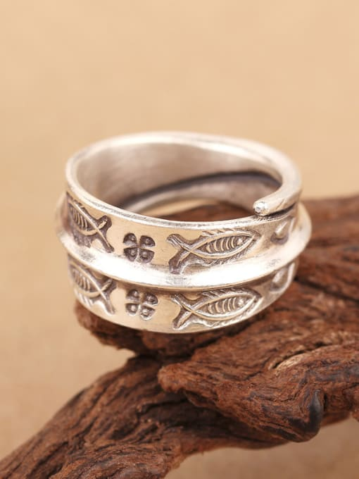 Peng Yuan Personalized Little Fishes Opening Handmade Ring 3