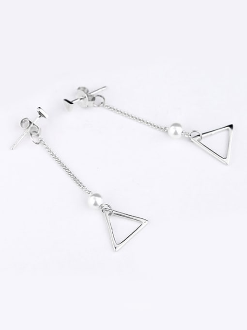 Peng Yuan Fashion Freshwater Pearl Triangle Earrings 2