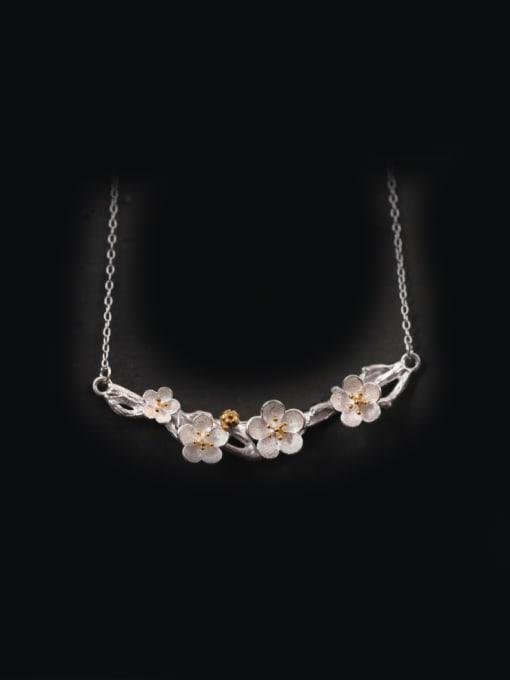 SILVER MI Plum Blossom Women Accessories Necklace
