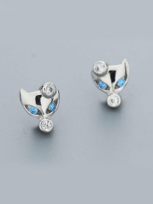 One Silver Women Cute Fox Shaped earring 0