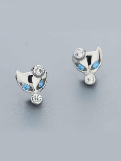 One Silver Women Cute Fox Shaped earring