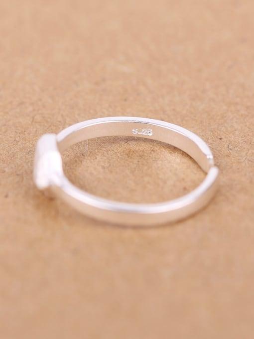 Peng Yuan Simple Geometrical Silver Opening Ring 2