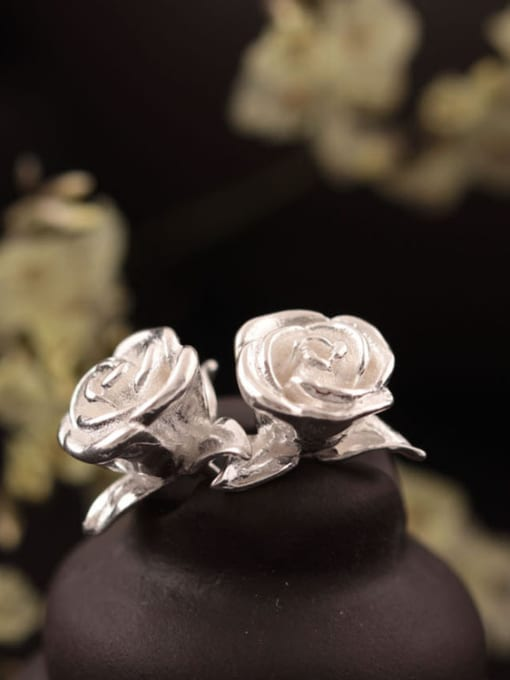 SILVER MI Personal Rose Women stud Earring 2