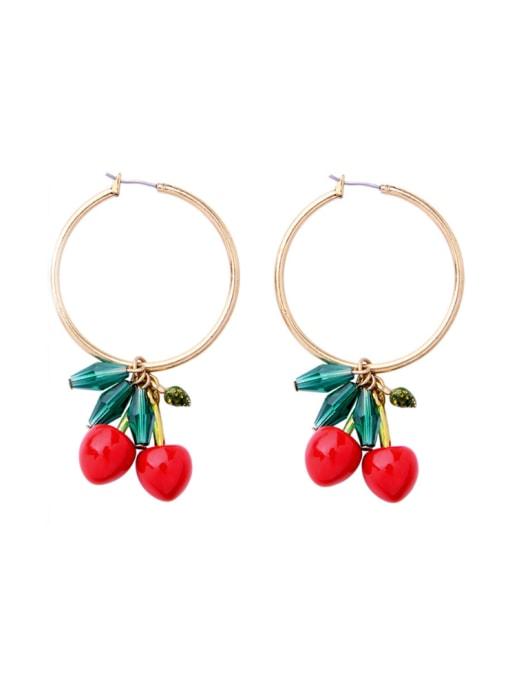 KM Western Style Cherry Women drop earring