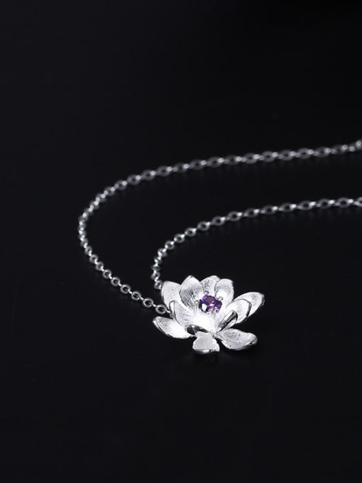SILVER MI Small Flower Pendant Accessories Women Necklace 1