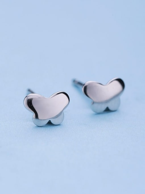 One Silver 925 Silver Butterfly Shaped stud Earring 0