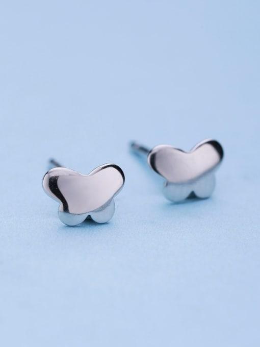 One Silver 925 Silver Butterfly Shaped stud Earring