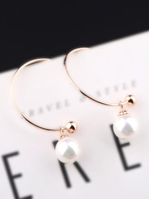 Peng Yuan Freshwater Pearl Round Silver Earrings 1