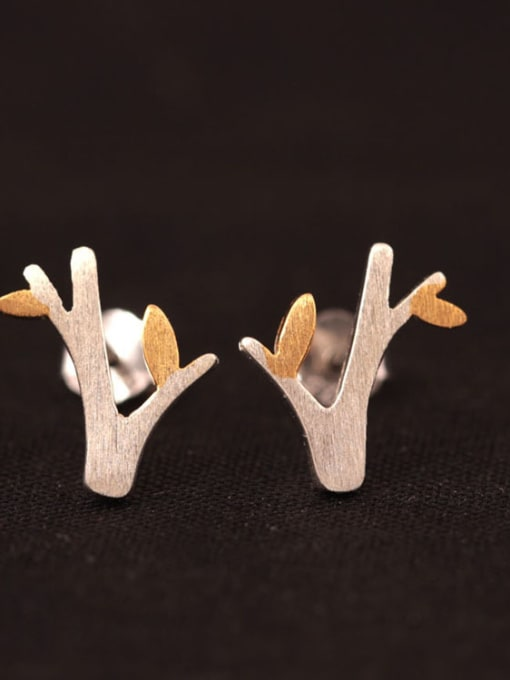 two color Two color Small Tree stud Earring