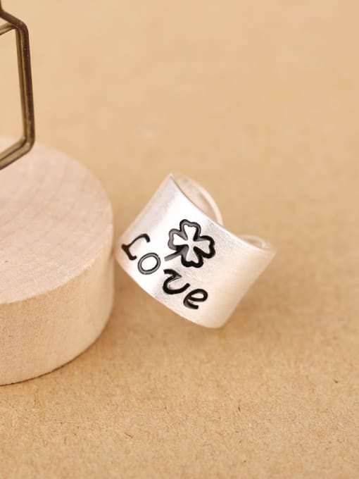 Peng Yuan Personalized LOVE Silver Opening Ring 3