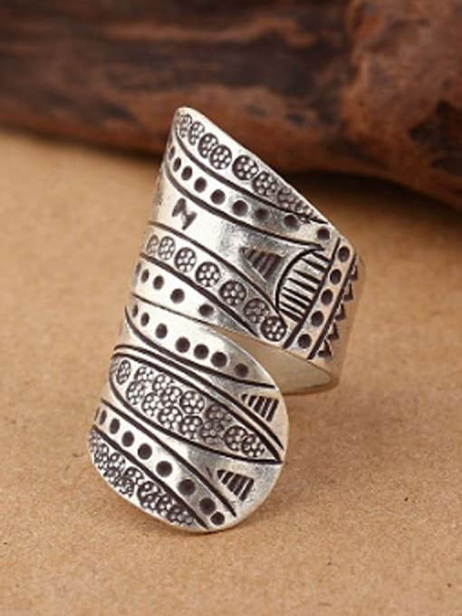 Peng Yuan Personalized Retro Silver Handmade Ring 0