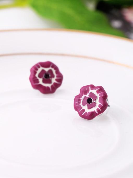 KM Small Flower-shape stud Earring 1