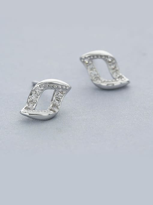 One Silver All-match Geometric Shaped Earrings